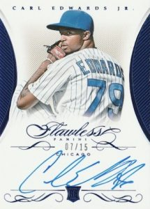 2016 Panini Flawless Baseball Rookie Signatures Sapphire Carl Edwards