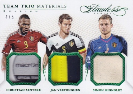 2016 Panini Flawless Soccer Cards 35