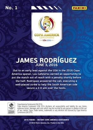 2016 Panini Instant Copa America Centenario Soccer Cards 3