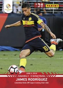 2016 Panini Instant Copa America Centenario 1 James Rodriguez front