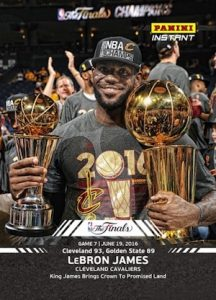 2016 Panini Instant NBA Finals Basketball Base Black 15 LeBron James MVP