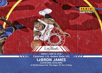 2016 Panini Instant NBA Finals Basketball Game 6 LeBron James Blue