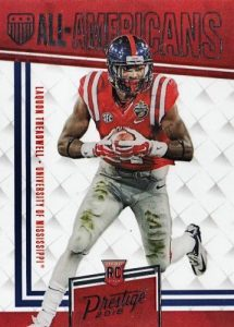 2016 Panini Prestige Football Cards - Print Runs Added for Draft Day Signatures 25