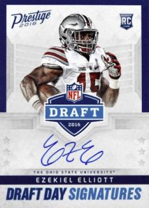 2016 Panini Prestige Football Cards - Print Runs Added for Draft Day Signatures 30