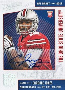 2016 Panini Prestige Football Cards - Print Runs Added for Draft Day Signatures 34