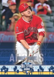 2016 Topps All-Star FanFest Baseball base Wrapper Trout