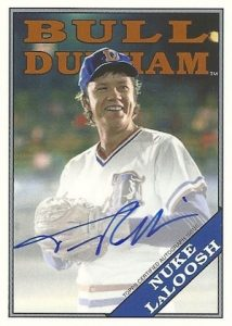 2016 Topps Archives Baseball Bull Durham Autograph Tim Robbins as Nuke LaLoosh