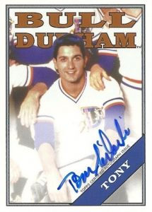 2016 Topps Archives Baseball Bull Durham Autograph Tom Silardi as Tony
