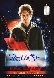 2016 Topps Doctor Who Timeless Autograph Paul McGann as the Eighth Doctor Red Foil