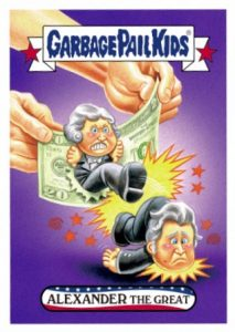 2016 Topps Garbage Pail Kids 4th of July Alexander Hamilton Andrew Jackson