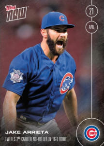 2016 Topps Now Card 30 Jake Arrieta