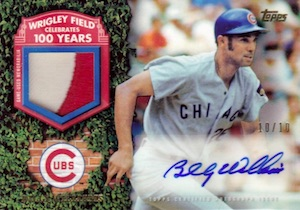 2016 Topps Series 2 Baseball 100 Years at Wrigley Field Autograph Relics
