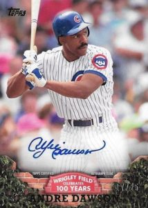 2016 Topps Series 2 Baseball 100 Years at Wrigley Field Autographs