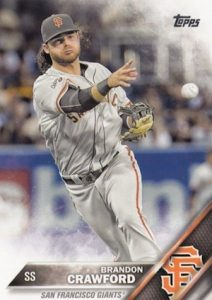 2016 Topps Series 2 Baseball Base 442 Brandon Crawford