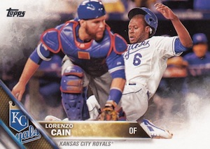 2016 Topps Series 2 Baseball Base 696 Lorenzo Cain