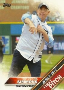 2016 Topps Series 2 Baseball First Pitch JK Simmons