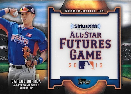 2016 Topps Series 2 Baseball Futures Game Pin Correa