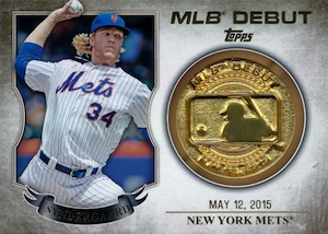 2016 Topps Series 2 Baseball MLB Debut Medallion