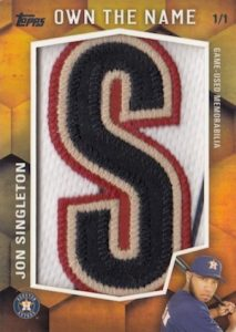 2016 Topps Series 2 Baseball Own the Name