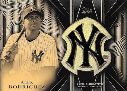 2016 Topps Series 2 Baseball Team Logo Pin Alex Rodriguez