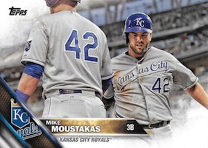 2016 Topps Series 2 Baseball Variations SP Jackie Robinson 42 Mike Moustakas