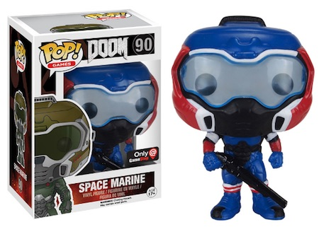 Funko Pop Doom 90 Space Marine American Hero Gamestop exclusive