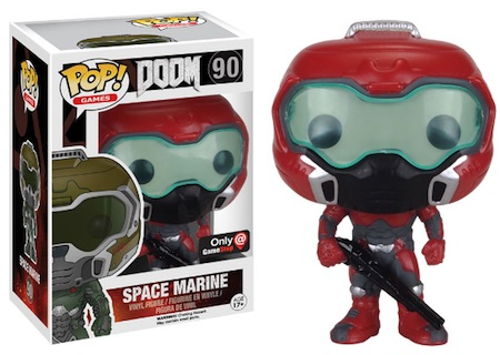 Funko Pop Doom 90 Space Marine Elite Gamestop exclusive