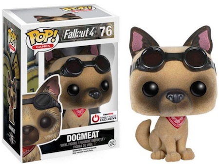 Funko Pop Fallout 4 76 Dogmeat Flocked GameStop PowerUp Rewards