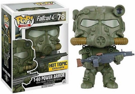Funko Pop Fallout 4 78 T-60 Power Armor Green Camo Hot Topic