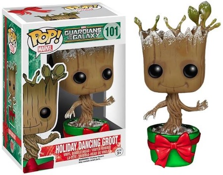 Funko Pop Guardians of the Galaxy 101 Holiday Dancing Groot Snowy Metallic