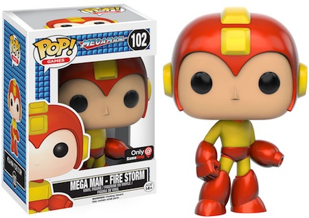 Funko Pop Mega Man 102 Mega Man Fire Storm GameStop Exclusive