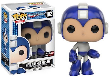 Funko Pop Mega Man 102 Mega Man Ice Slasher GameStop Exclusive
