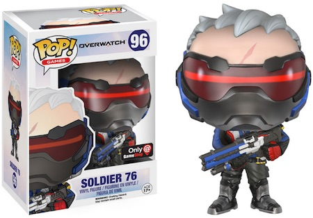 Funko Pop Overwatch 96 Soldier 76 GameStop Exclusive