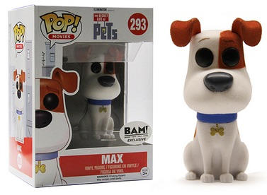 Funko Pop Secret Life of Pets 293 Max Flocked BAM