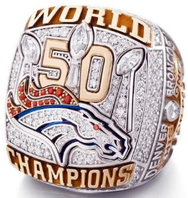Super Bowl 50 Ring Denver Broncos 2