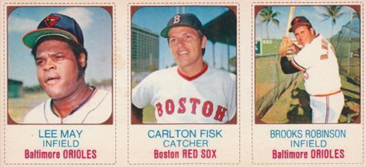 1975 Hostess Lee May, Carlton Fisk, Brooks Robinson