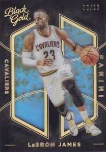 2015-16 Panini Black Gold Basketball Base Holo Gold LeBron James