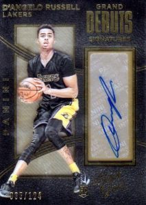 2015-16 Panini Black Gold Basketball Grand Debuts Signatures
