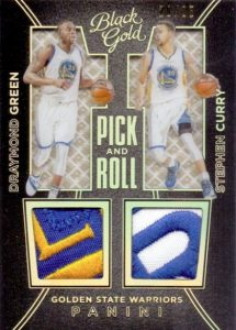 2015-16 Panini Black Gold Basketball Pick and Roll curry draymond Prime Patch