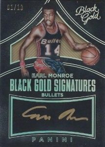 2015-16 Panini Black Gold Basketball Signatures Earl Monroe