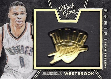 2015-16 Panini Black Gold Basketball Team Emblems Russell Westbrook
