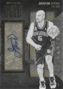 2015-16 Panini Black Gold Basketball Vintage Gold Autographs Jason Kidd