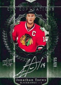 2015-16 UD Black Hockey Cup Coronations Autographs Toews