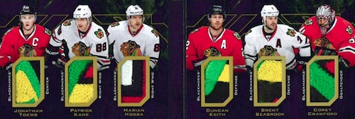 2015-16 UD Black Hockey Sixes Relics Booklets patch