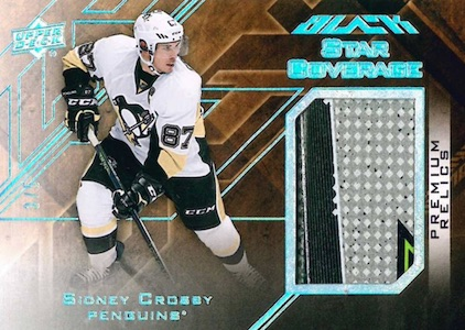 2015-16 UD Black Hockey Star Coverage Relics Patch Sidney Crosby