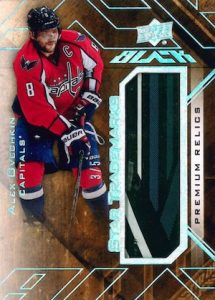 2015-16 UD Black Hockey Star Trademarks Relics Ovechkin