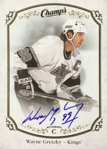 2015-16 Upper Deck Champs Hockey Autograph Gretzky