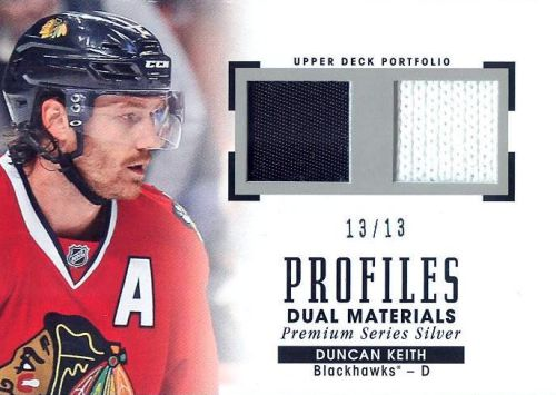 2015-16 Upper Deck Portfolio Hockey Dual Materials Silver Series Duncan Keith