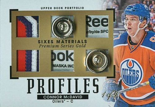 2015-16 Upper Deck Portfolio Hockey Profiles Six Gold Series Connor McDavid
