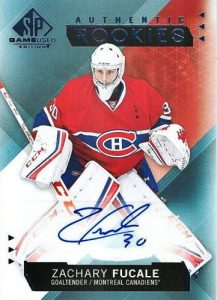 2015-16 Upper Deck Portfolio Hockey SP Game Used Authentic Rookies Auto Zachary Fucale